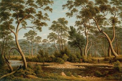 John Glover - The River Nile Van Diemans Land from Mr.Glover's Farm 1837