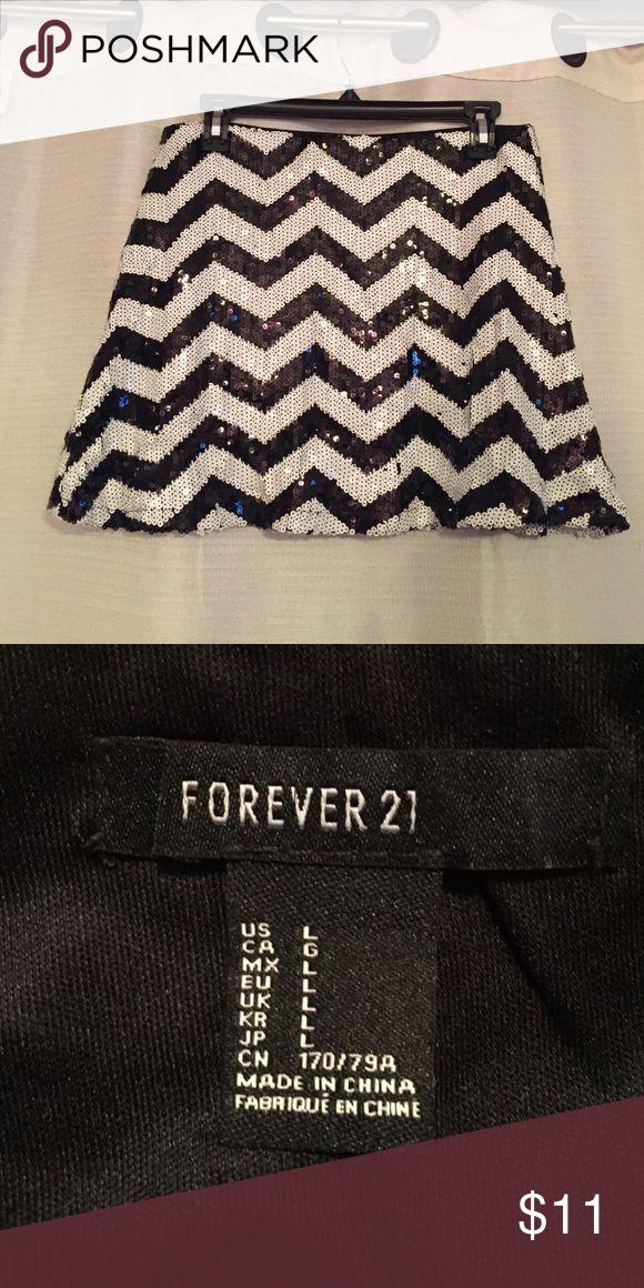 Sequin Chevron Skirt Chevron Sequin Skirt Forever 21 Skirts Mini