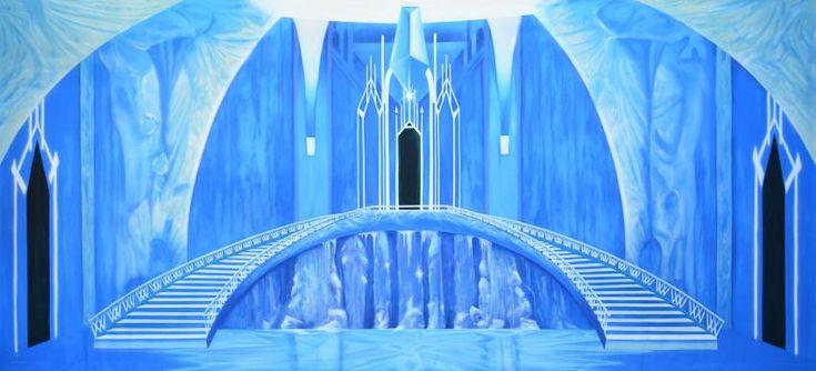Ice Castle Interior Disney Castle Backdrop Castles