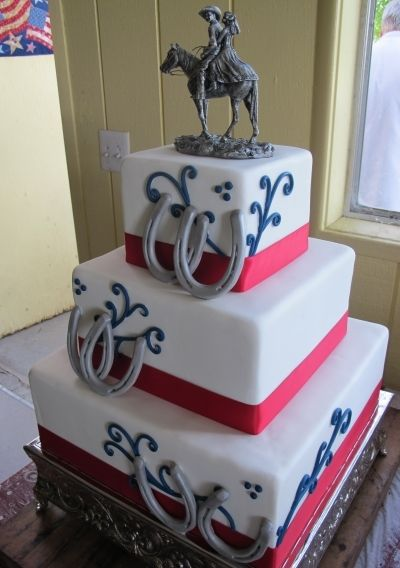 Cowboy Wedding Cake By LetsDoCake1 on CakeCentral.com