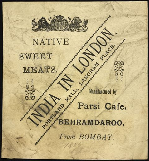 Parsi delicacies on sale in London late 19th century ...