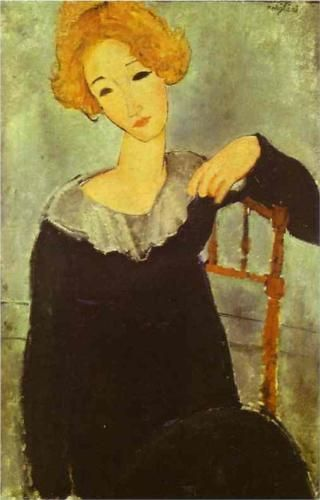 Amedeo Modigliani, 'Woman with Red Hair'.