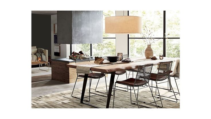 Yukon Natural 80 Quot Dining Table Metal Dining Chairs