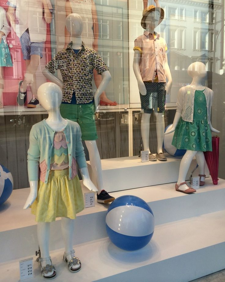 Jersey Kid #Mannequins in BHS Oxford Street. @BHS_UK #vm #display #retail #childrenswear www.panachedisplay.co.uk