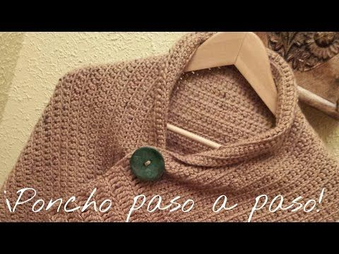 Poncho to crochet step -by - step - YouTube