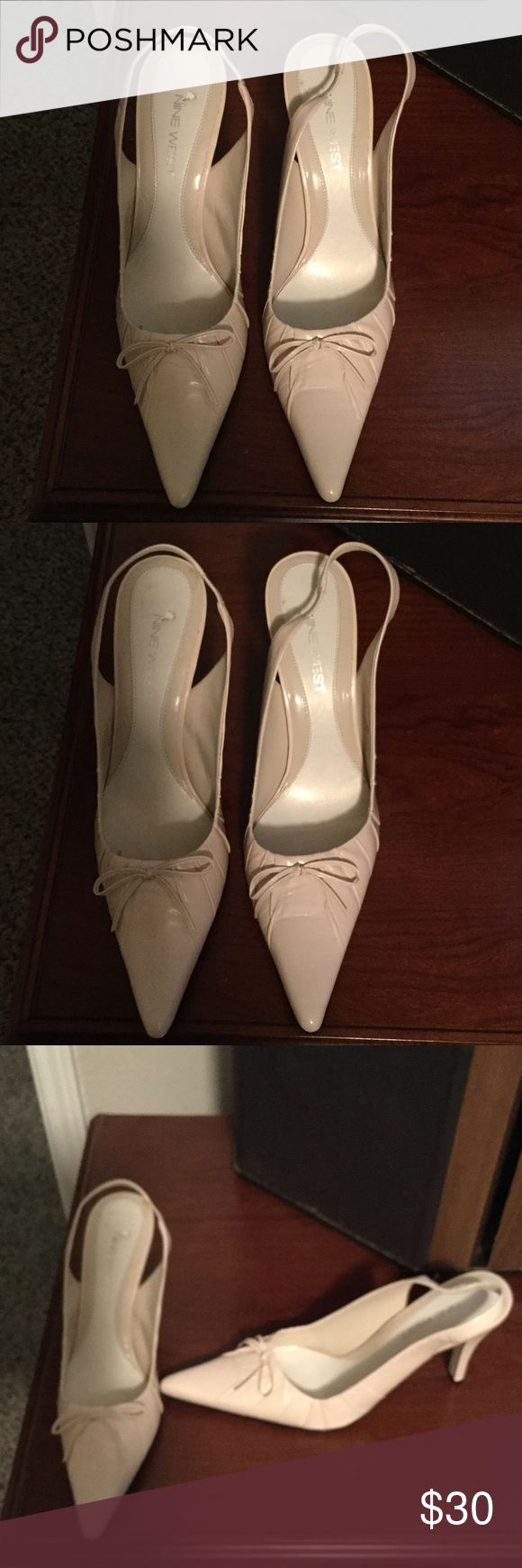 Nine West Cream Pump These shoes are in great condition worn maybe twice!!! Nine West Shoes Heels