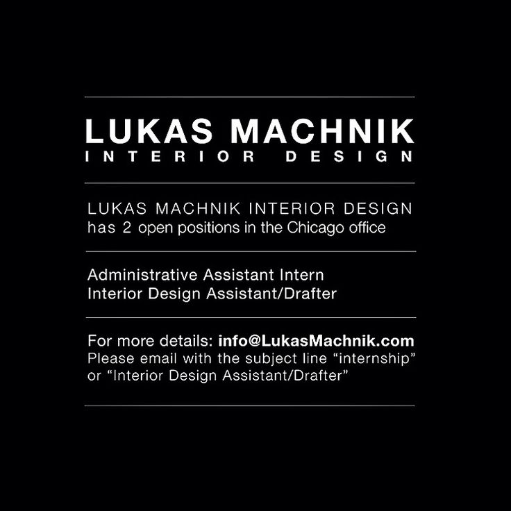 LUKAS MACHNIK INTERIOR DESIGN