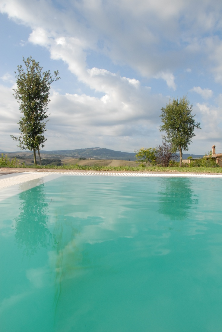 7m x 14 m salt water infinity pool with stunning views all around