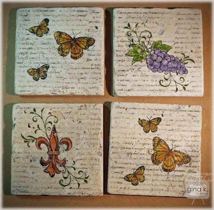 Tumbled Tile Coasters - Gina K Designs | stampTV