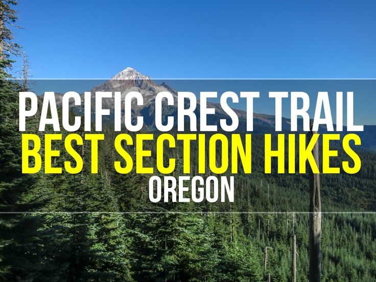The best Pacific Crest Trail section hikes in the Oregon PCT section. These are the best PCT sections to hike if you don't have time for the entire trail.