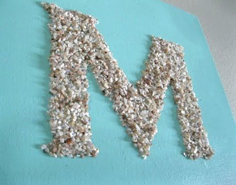 crushed shell craft: Sea Shells, Beaches Crafts, Decor Ideas, Crushes Shells, Oyster Shell Crafts, Seashells, Oysters Shells Crafts, Includ Letters, Shells Letters