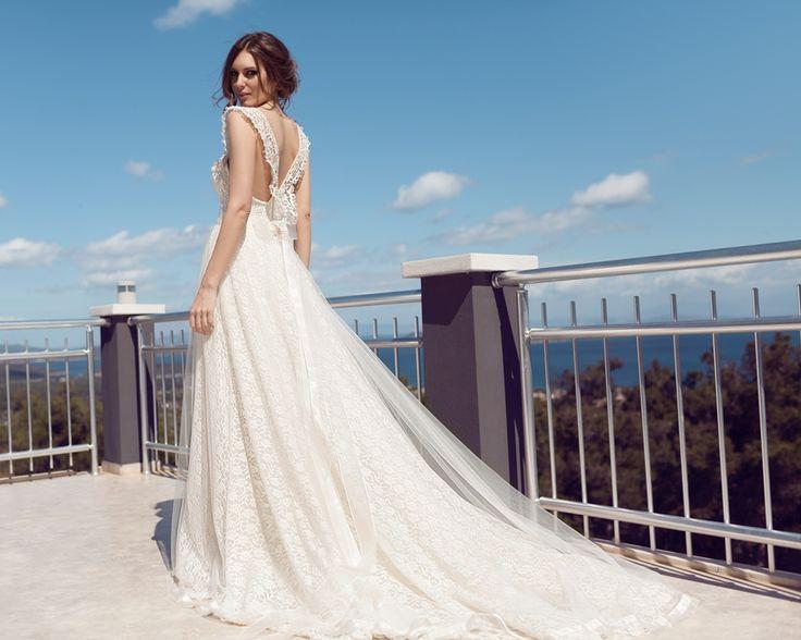 A kesim dantel askılı gelinlik modelleri-a kesim gelinlik modelleri 2016-nova bella gelinlik nişantaşı istanbul