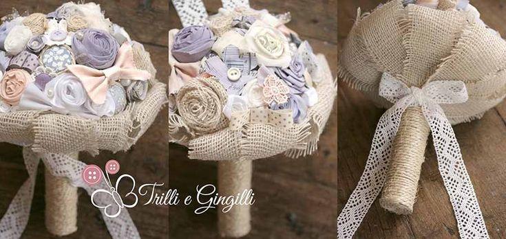 Bouquet sposa lilla, lavanda e glicine. Lavander bouquet for a lavander and country-chic wedding. Vuoi vedere altri bouquet sposa lavanda? Vai qui: http://www.trilliegingilli.com/bouquet-lavanda-e-verde-muschio-con-cascata-di-perle/