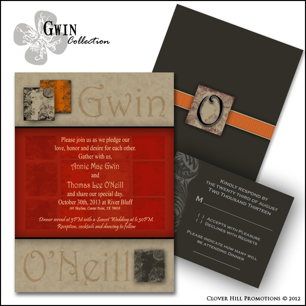 Gwin Collection From Clover Hill Promotions Our Wedding