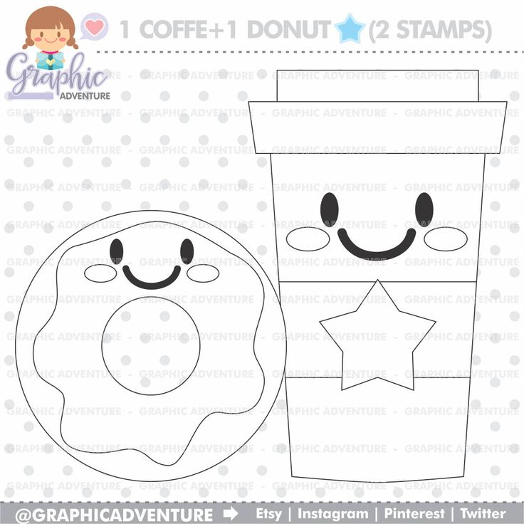The 25 Best Donut Coloring Page Ideas On Pinterest