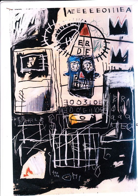"Jean Michel Basquiat  ""Untitled"", 1981 (182x122 cm, acrylic crayon, collage)"