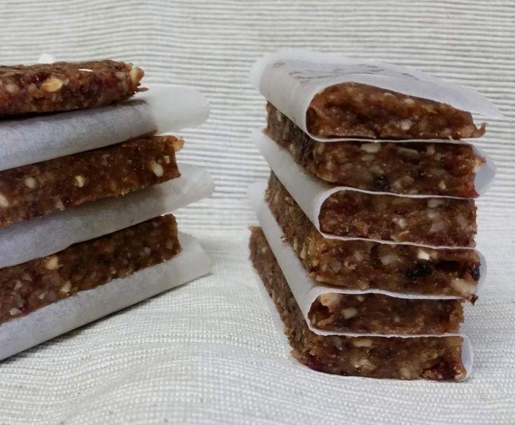 Receita Barras Energéticas Paleo por RC74 - Categoria da receita Bolos e Biscoitos