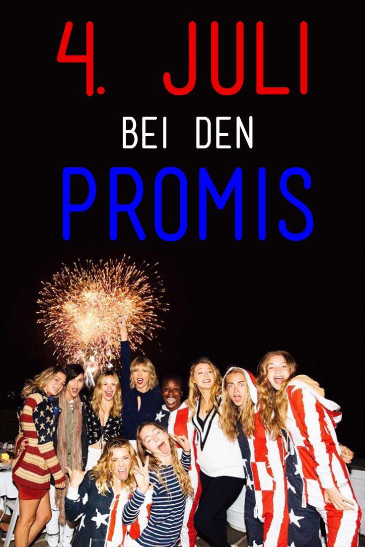 Promis in Rot/Weiß/Blau: So feiern Taylor Swift, Selena Gomez und andere Stars den 4. Juli (Unabhängigkeitstag).