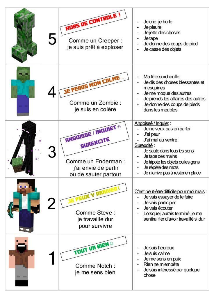 Gestion du stress avec Minecraft : pour aider les enfants qui ont du mal avec les émotions :-)
