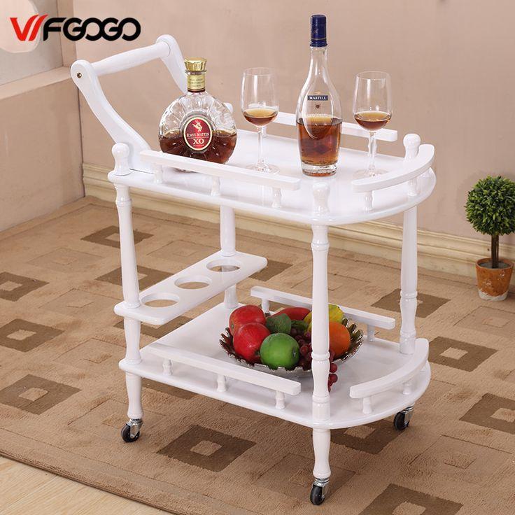 WFGOGO Albergo Trolley Tavolini Titolari di Stoccaggio Multiuso Display Scaffale in Scaffale Angolo Prodotti Mobili Consolle Tavoli