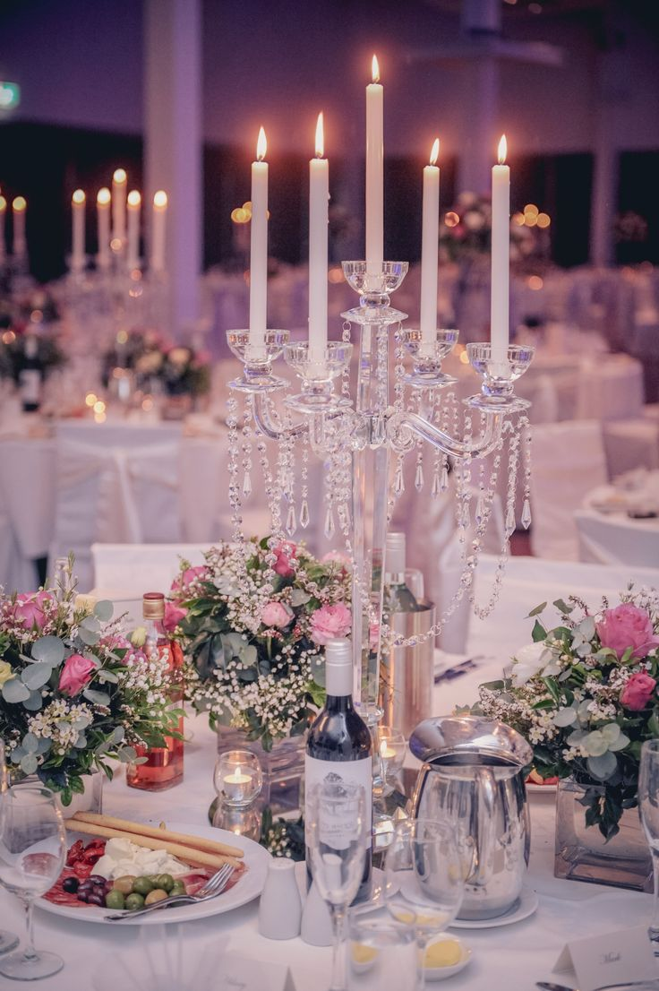 Crystal Candelabra Wedding Centrepiece