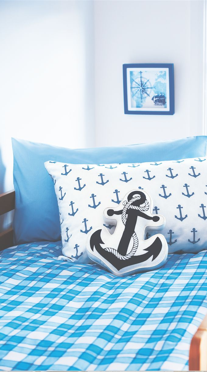 Nautical themed kids' bedding