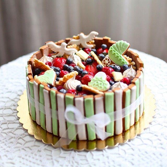 Тортик на празднование дня рождения малыша и годовщины свадьбы! #katishbakery