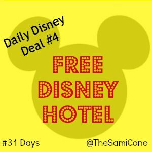 Learn how to score a free Disney Hotel Stay on Disney Deals Day 4 from http://SamiCone.com