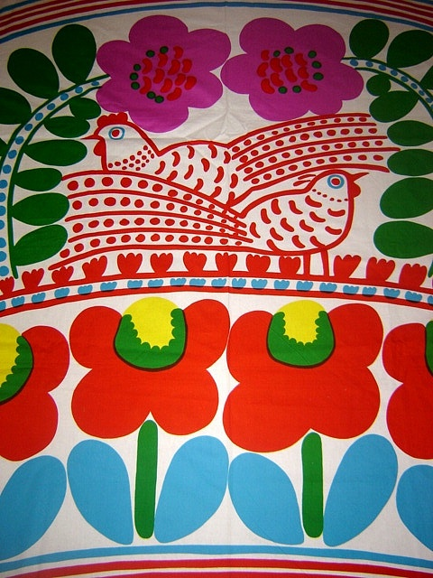 Marimekko . . . . reminds me of my childhood and sewing