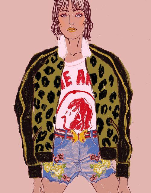 Gucci Resort 2018 - Fashion illustration © EunjeongYoo