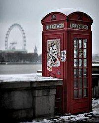 Лондон зимой.