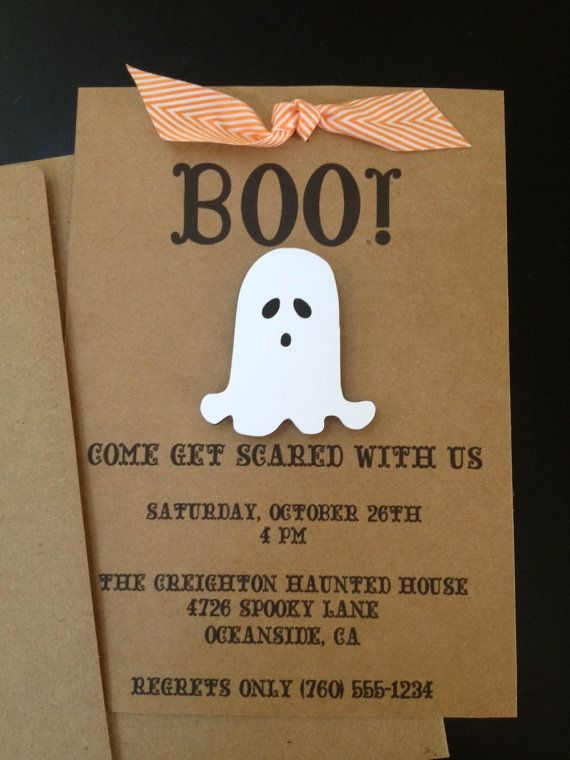 Halloween Party Ghost Invitations Custom Made for Halloween or Birthday Party on…