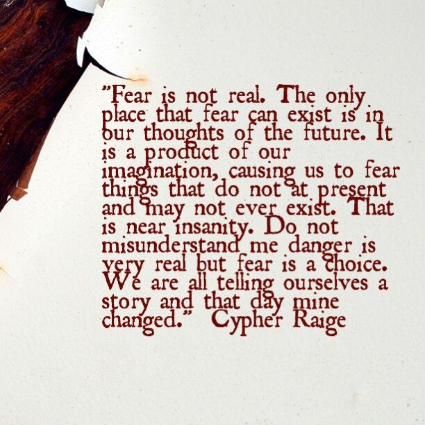 Quote about fear from the movie After Earth starring Will Smith