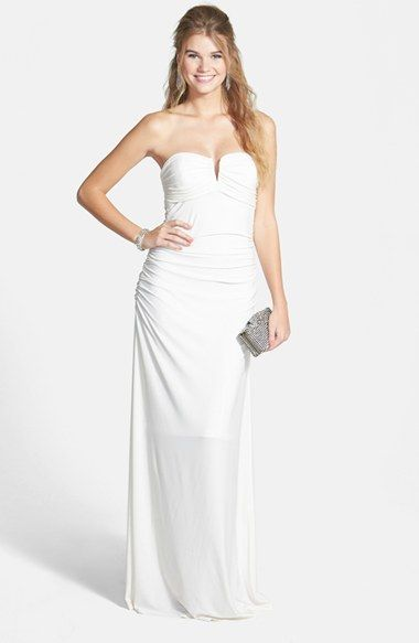 Hailey Logan Morgan Strapless Gown Juniors Available At Nordstrom Westfield