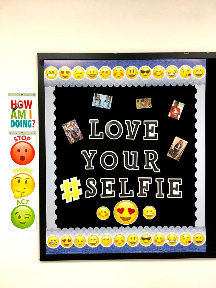 Image result for emoji classroom theme inclusion for Cork board pin display
