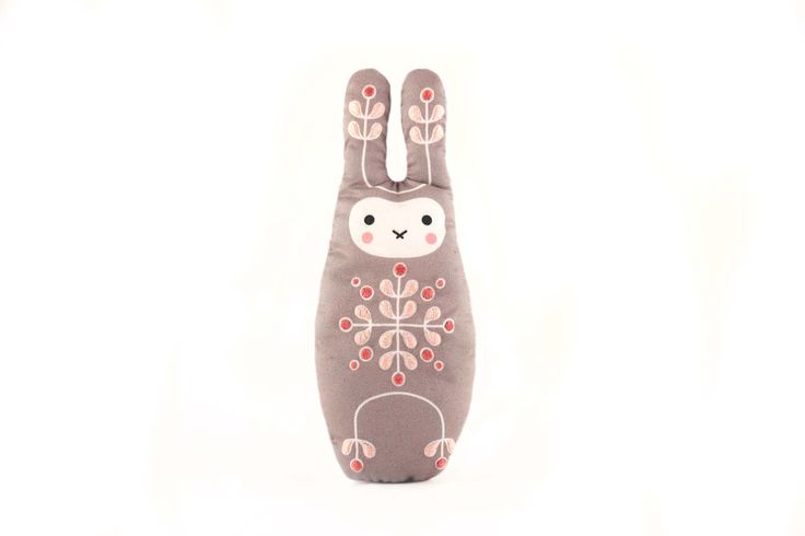 BUNNY/RABBIT DIY embroidery kit - contains all tools: digital printed fabric, needles, stuffing, instruction, embroidery threads, embroidery hoop, scissors. The result is a loveable cute toy. #diy #embroidery #kit #bunny #rabbit #sew #cute #decoration #toy #kids #craft
