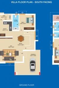 Sree Daksha's Aashritha - Villa Floor Plan (South Facing)