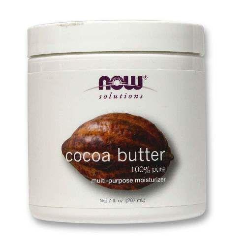 NOW Cocoa Butter 207ml (Αγνό Βούτυρο Κακάο) | Familypharmacy.gr