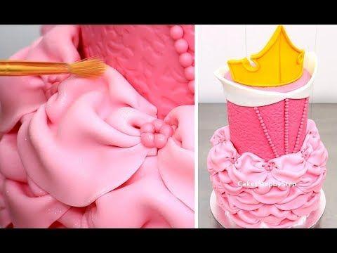 Pastel de la Princesa Aurora - LA BELLA DURMIENTE Como Hacer de Cakes StepbyStep - YouTube
