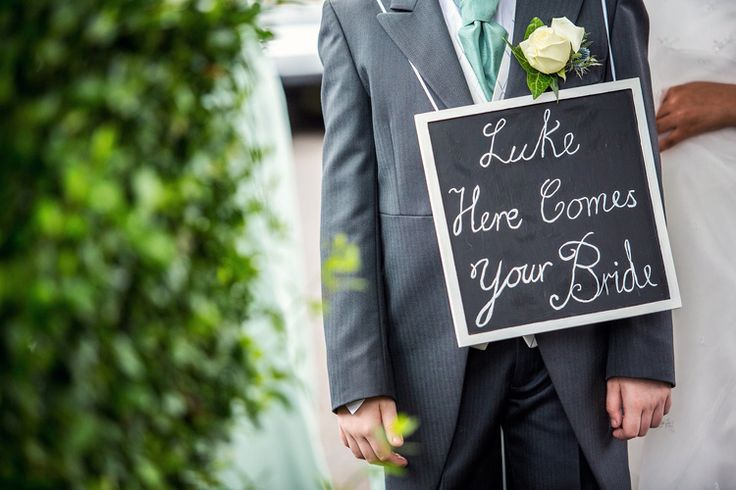 Fennes Essex Wedding Here Comes The Bride Sign