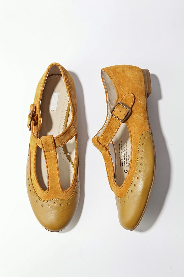 mustard Mary Janes. these are all sorts of fantastic. @Anne Weil @Hannah Keelin