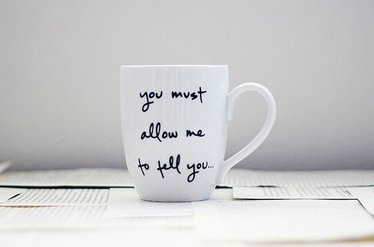 Mr. Darcy Proposal Mug - Jane Austen. $16.00, via Etsy.