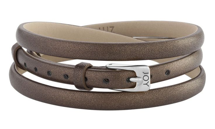 Joy de la Luz | Leather buckle bracelet bronze