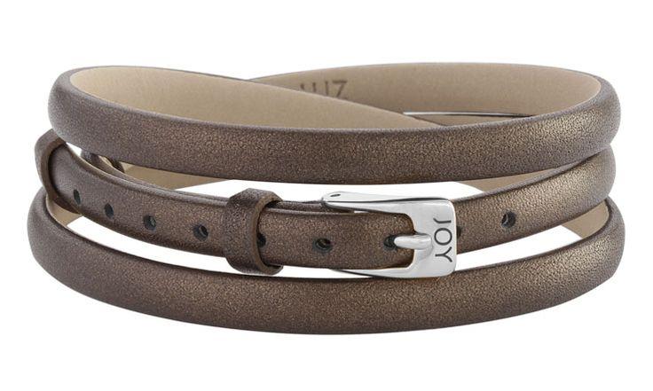 Joy de la Luz | Leather buckle bracelet bronze
