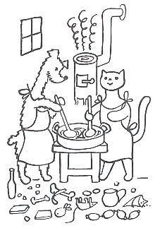 Pejsek a kočička vařili dort