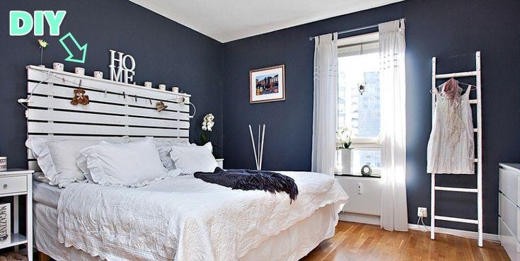 Mieszanka stylów w bieli + DIY: zagłówek łóżka