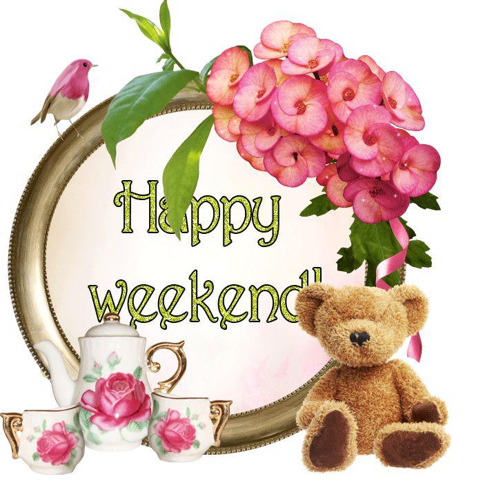 Happy Weekend friend weekend friday sunday saturday greeting graphic weekend greeting
