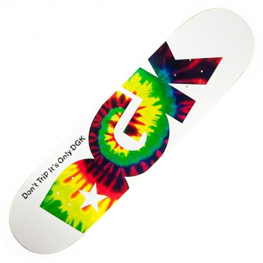 Board DGK Don't Trip white tye die deck 8.06 pouces 70,00 € #dgk #dgkallday #dgkskateboard #dgkskate #dgkskateboards #dgkdeck #skatedeck #tyedie #skate #skateboard #skateboarding #streetshop #skateshop @April Gerald Skateshop