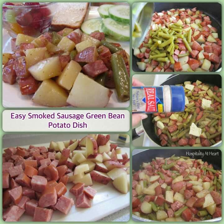 Sausage green bean potato casserole   cooking   Pinterest   Potato ...