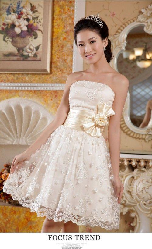 50%off お買い得ウェディングドレス  ミニスカート プリンセスドレス【楽天市場】 http://global.rakuten.com/en/store/b-bestshop/item/yq-e0035/